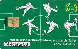 Telefonkarte  A84493322 - T2G 05/98 - 2 000 000 Ex., 50 Unités, France Télécom, Michelin Spielt Fußball - Sport