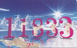 """Telefonkarte  PD - 2/99, 12 DM, DTMe, 11833 Im Winter, """"Unsere Auskunft Glänzt Bei Plicht Und Kür"""" - Spiele"""