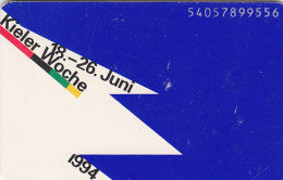 Telefonkarte  P16 04/94 - 300 000, 12 DM, DTMe, Kieler Woche 1994 - Werbung
