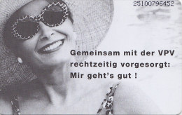 """Telefonkarte  ODS S 19 12/95 - 400 000, 12 DM, DTMe, Vereinigte Postversicherung, """"rechtzeitig Vorgesorgt"""" - Werbung"""