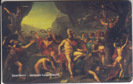 LATVIA(chip) - Spartans/Thermopiyes, Painting/Jacques Louis David, Tirage 30, 05/07, Mint - Latvia