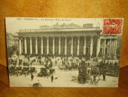 CPA PARIS (2e) LA BOURSE VUE DE FACE - Autres Monuments, édifices