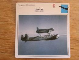 LEDUC 021 Intecepteur Défense Aérienne FICHE AVION Avec Description   Aircraft Aviation - Vliegtuigen