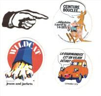 Autocollants - Divers  4 Pcs - Citroen 2 Cv - Wildcat - Ceinture Bouclée - Index - Autocollants