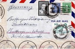 PHILLIPINES 1958, 4 Fach Frankierung Und Zensur Auf Brief Von Phillipines Nach Bottrop Germany - Philippinen