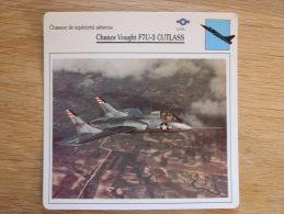 CHANCE VOUGHT F7U-3 Cutlass Chasseur FICHE AVION Avec Description   Aircraft Aviation - Flugzeuge