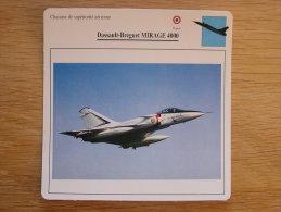 DASSAULT BREGUET Mirage 4000 Chasseur FICHE AVION Avec Description   Aircraft Aviation - Flugzeuge