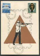 ITALIA - FDC - CARTOLINA MAXIMUM CARD 1963 / 1964 - GIOCHI DELLA GIOVENTU´ - RIMINI - 409 - Tiro (armi)
