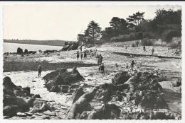 CP, 29, LOCQUIREC, Grève De La Roche Tombée, écrite, Voyagé En 1959 - Locquirec