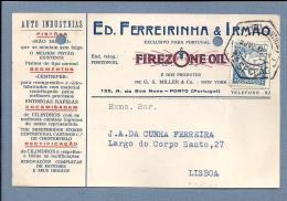 Postal Comercial C/PUBLICIDADE Loja PORTO. 1930s Portugal. Business Postal W/advertising. - Porto