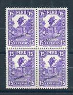 Peru 1932. Yvert 285 X 4 Specimen ** MNH. - Peru