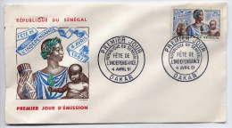 SENEGAL--1961--FDC  1er Jour--Fête De L'Indépendance-dessin Signé  Gandon - Sénégal (1960-...)