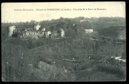 Cpa  Du  22   Environs De Lannion  Château De Tonquédec  Vue Prise De La Route De Kerauzern     6ao10 - Lannion