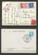 France1951,1958 (2) Postal Cards  Some Special Cancel - France