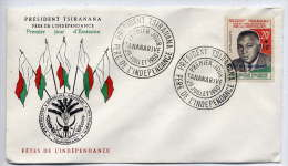 MADAGASCAR-- 1960-----Lettre FDC 1er Jour----Président TSIRANANA--Père De L'Indépendance - Madagascar (1960-...)