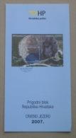 RED LAKE - Croatia Post Postage Stamp Prospectus * Geological Phenomenon Phénomène Géologique Geology Geologie Geologia - Minerals