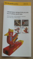 CROATIAN INTANGIBLE CULTURAL HERITAGE - Croatian Post Postage Stamps Prospectus * Hvar Lace St. Blaise Gingerbread Craft - Textile