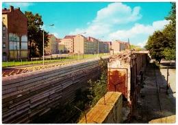 CPSM Couleur Mur De BERLIN Die Mauer An Der Bernauer Strasse The Wall At Bernau Street No Man's Land 1960 TBE $$ - Berliner Mauer