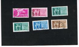 ITALIA REPUBBLICA  -  1955 / 1968   LOTTO DI 6 DIFFERENTI VALORI PER ESPRESSO (STELLE) - USATI° (USED) - Eilpost/Rohrpost