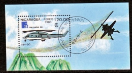 Nicaragua 1718  (o)  HELICOPTER - Nicaragua