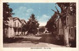 MAS -D'AGENAIS ,RUE DU BOIS ,AUTO DE GENDARMERIE,PERSONNAGES,C OULEUR   REF 34385 - Autres Communes
