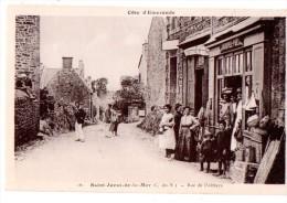 CPA ANIMEE ST JACUT DE LA MER  RUE DE L'ABBAYE - Saint-Jacut-de-la-Mer
