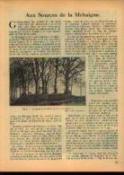 (DHUY - LIERNU) Dans « Touring  Club De Belgique» 15/03/1935 : « Aux Sources De La Mehaigne» - Kranten