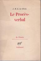 Gallimard Le Clezio Le Proces Verbal - Livres, BD, Revues