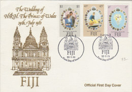 Fiji 1981 Royal Wedding FDC - Fiji (1970-...)