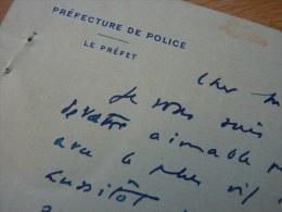 Jean CHIAPPE (1878-1940) - PREFET De PARIS De 1927 à 1934 - AUTOGRAPHE - Autographes