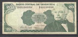 VENEZUELA .  BILLET DE 20 BOLIVARES   . - Venezuela