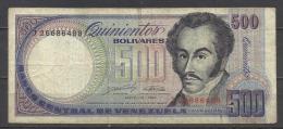 VENEZUELA .  BILLET DE 500 BOLIVARES   . - Venezuela