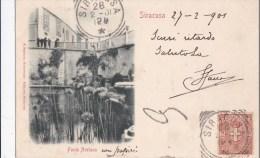 SIRACUSA - FONTE ARETUSA VG 1901  AUTENTICA 100% - Siracusa