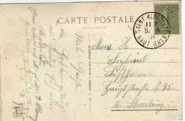 727 - Postal Saint Hippolyte 1924 Semeuse Lignee , Francia - 1903-60 Sower - Ligned