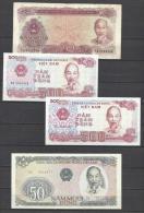VIÊT -NAM .  LOT DE 4 BILLETS  . - Vietnam