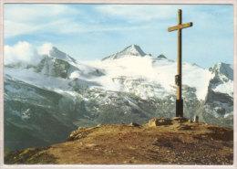 Grüblspitz , Gipfelkreuz Mit Gefrorner Wandspitz Und Olperer , Zillertal - Zillertal