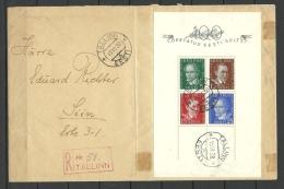 Estland Estonia Estonie FDC Ersttagsbrieg 15. VI.1938 Mit Block Michel 2 - Estland