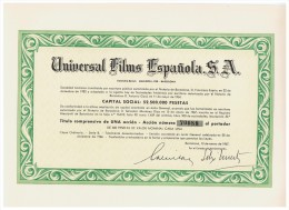 ACCION ANTIGUA - ACTION ANTIQUE = Universal Films Española SA 1967 - Acciones & Títulos