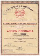 ACCION ANTIGUA - ACTION ANTIQUE = Calzados La Imperial 1923 Con Sellos En Reverso - Acciones & Títulos