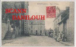 72 ---  MAIGNE   Place De L'église , A Lemaitre Phto,  ANIMEE - France