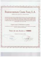 ACCION ANTIGUA - ACTION ANTIQUE = Buenaventura Costa Font  1968 - Acciones & Títulos