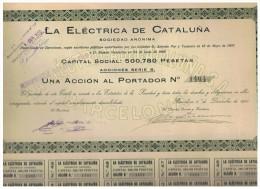 ACCION ANTIGUA - ACTION ANTIQUE = La Electrica De Cataluña 1920 - Acciones & Títulos