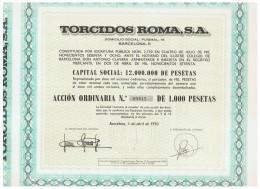 ACCION ANTIGUA - ACTION ANTIQUE = Torcidos Roma 1970 - Acciones & Títulos