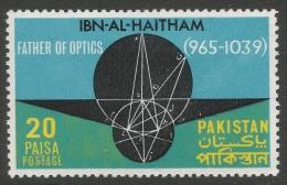 Pakistan. 1969 Millenary Commemoration Of Ibn-al-Haitham. 20p MH - Pakistan