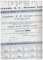 ACCION ANTIGUA - ACTION ANTIQUE = Lanobarc 1920 Numeracion Baja - Acciones & Títulos