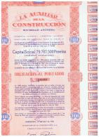 ACCION ANTIGUA - ACTION ANTIQUE = La Auxiliar De La Construccion 1961 - Acciones & Títulos