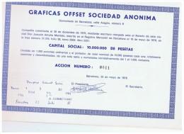 ACCION ANTIGUA - ACTION ANTIQUE = Graficas OFFSET 1976 Numeracion Baja - Acciones & Títulos