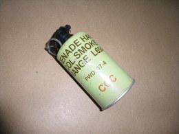 Grenade Fumigène Orange L69A1  (inerte) - Equipement