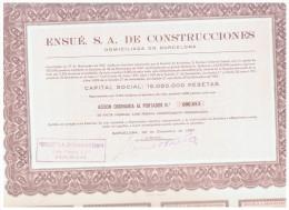 ACCION ANTIGUA - ACTION ANTIQUE = Ensué. SA  De Construcciones 1967 - Acciones & Títulos