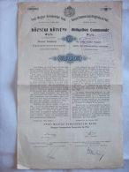 BANQUE COMMERCIALE HONGROISE DE PEST - OBLIGATION COMMUNALE 3 1/2 % DE 500 FRANCS - 1903 - - Banque & Assurance